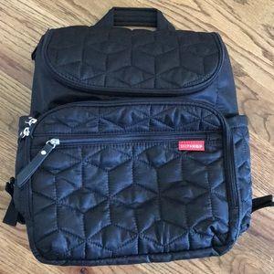 SKIP HOP Quilted Backpack Diaper Bag w/Stroller